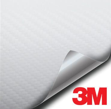 3M White Carbon Fiber vinyl wrap