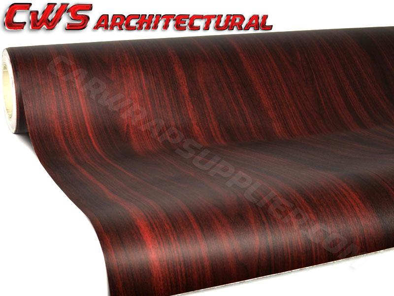 Architectural Wood Grain Vinyl - Burgundy Dark Wood
