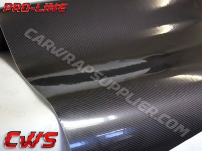 Black TechArt Gloss Carbon Fiber Vehicle Vinyl Film