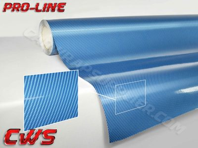 Blue TechArt Gloss Carbon Fiber Vehicle Vinyl Film