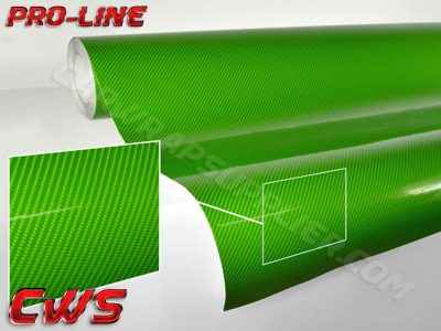 Green TechArt Gloss Carbon Fiber Vehicle Vinyl Film